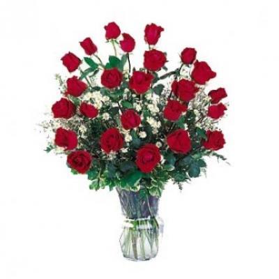 Red Roses Vase Arrangement