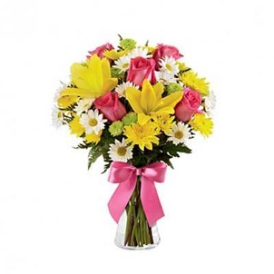 Lilies, Roses & Gerbera Bouquet