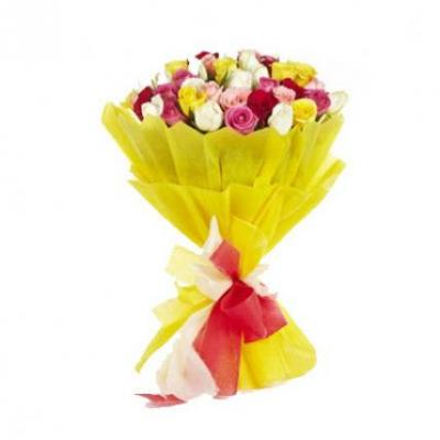40 Mixed Roses Bouquet