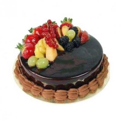 Fresh Fruit Chocolate Cake