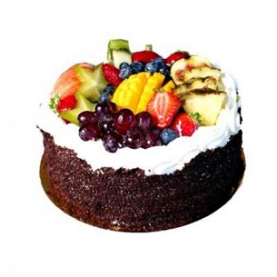 Fresh Fruit Black Forest Cake