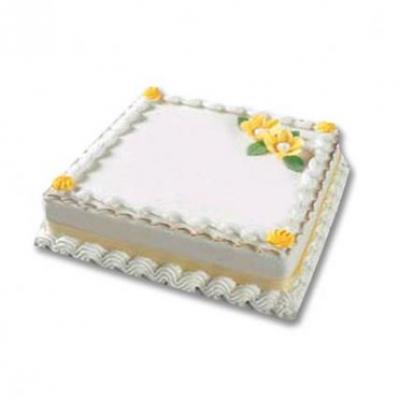 Square Vanilla Cake