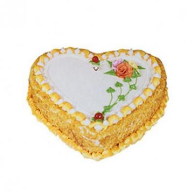Heart Shape Butter Scotch Cake