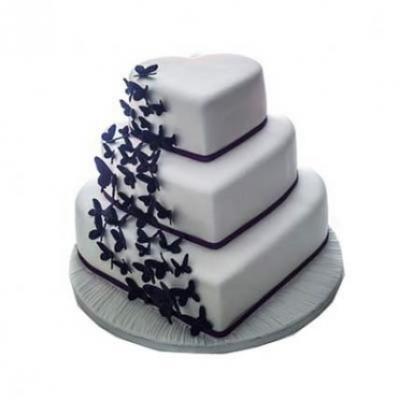 3 Tier Heart Shape Cake