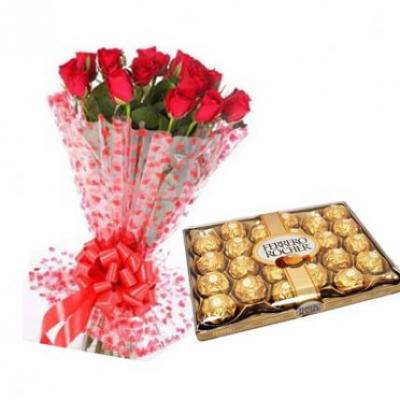 Ferrero With Red Roses