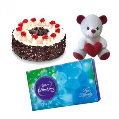 Cake, Chocolate With Teddy