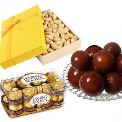 Cashew, Ferrero Rocher With Gulab Jamun