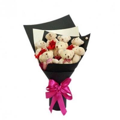 9 Teddy Bouquet