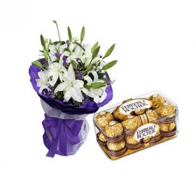 Lilies With Ferrero Rocher