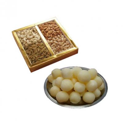 Rasgulla With Mix Dry Fruits