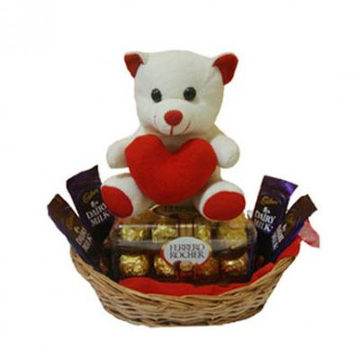 Teddy In Chocolate Basket