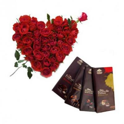 Roses Heart With Bournville