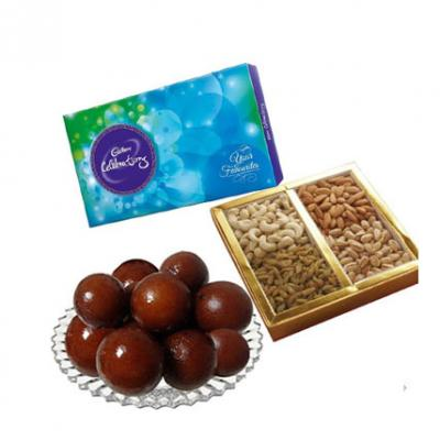 Gulab Jamun, Dry Fruits With Chocolates