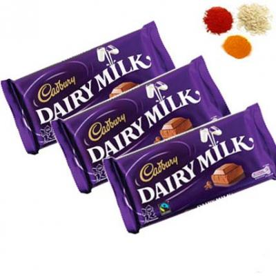 Bhai Dooj Rolli Tikka With Cadbury Dairy Milk Chocolates
