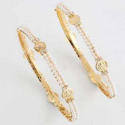 Pearl and Coin Bangles
