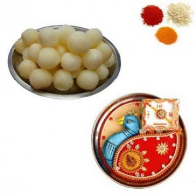 Rakhi Thali With Rasgulla
