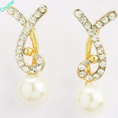 Pearl Diamond Earings- Earf91509