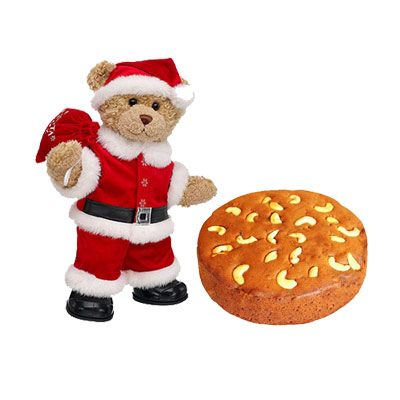 Santa Claus With Plum Cake