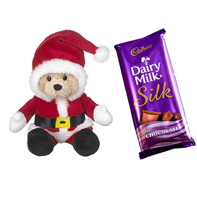 Santa Claus with Cadbury Dairy Milk Silk