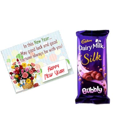 New Year Greeting With Chocolates