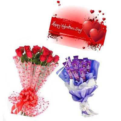 Valentine Bouquet Combo