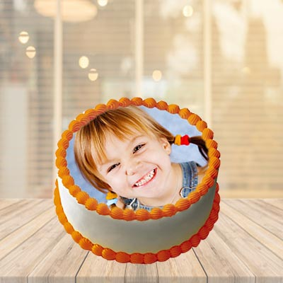 Butter Scotch Photo Cake Round