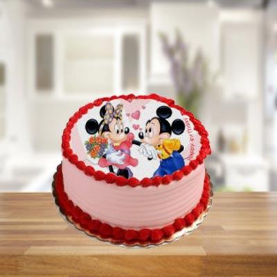 Strawberry Photo Cake Round