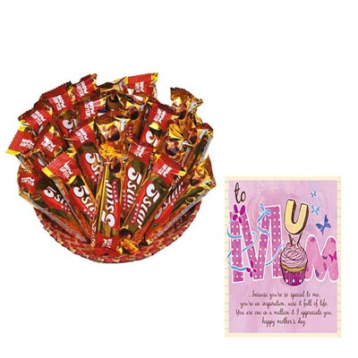 5 Star Chocolate Hamper With Mothers Day Card