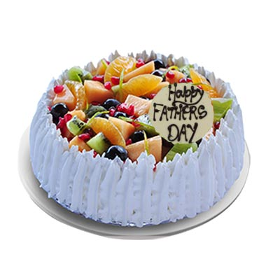 Happy Fathers Day Fresh Fruit Cake