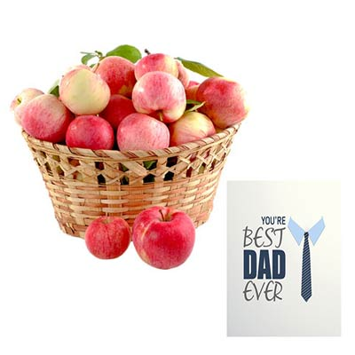 Apple Basket With Fathers Day Card