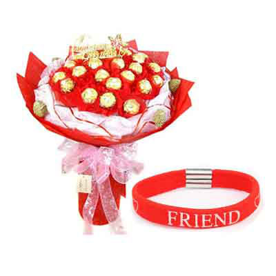 16 Pcs Ferrero Rocher Bouquet With Band