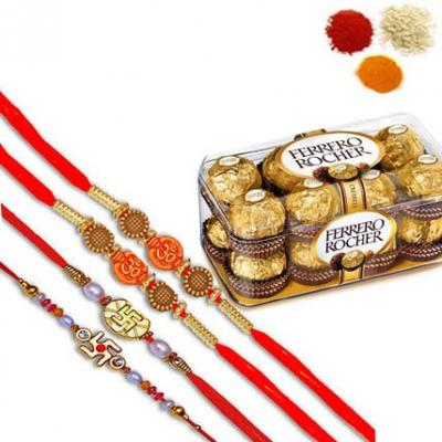 Rakhi Set and Ferrero Rocher