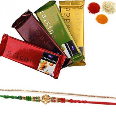 Rakhi Set with Cadbury Temptation Bar