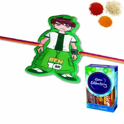 Kids Rakhi with Cadbury Chocolate