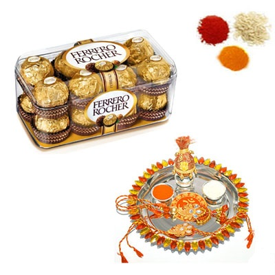 Rakhi Thali with Ferrero Rocher