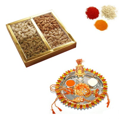 Rakhi Thali with Mixed Dry Fruits