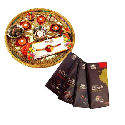 Rakhi Thali with Bournville Chocolates