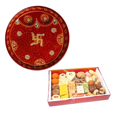 Rakhi Thali with Mixed Sweets