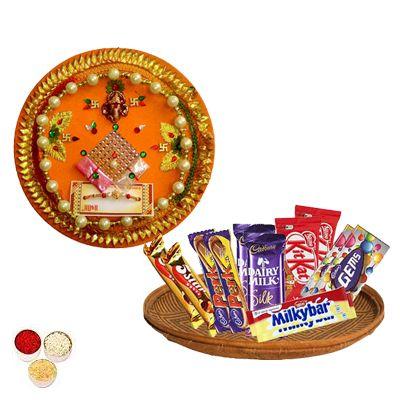 Rakhi Thali with Mixed Chocolates Hamper