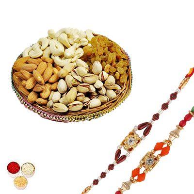 Rakhi Set with Mixed Dry Fruits