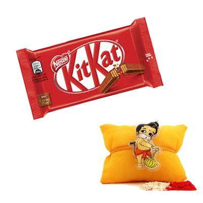 Hanuman Rakhi with Kitkat Chocolate