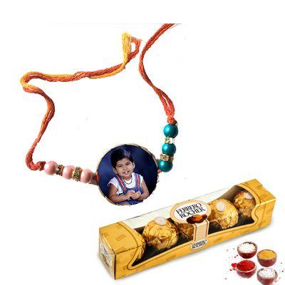 Photo Rakhi With Ferrero Rocher