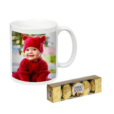 Photo Mug with Ferrero Rocher