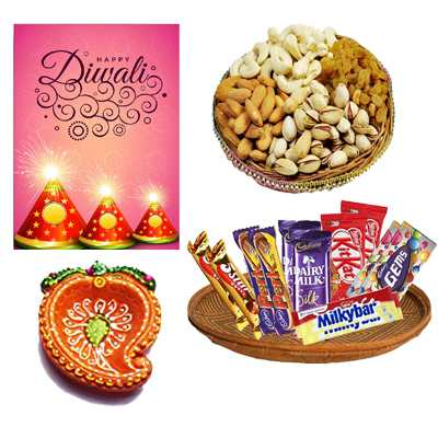 Diwali Dry Fruits and Chocolates Hamper
