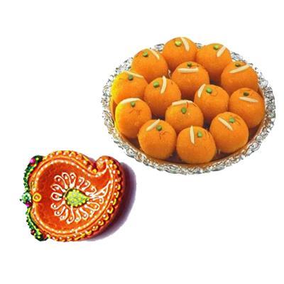 Diwali Diya with Sweets