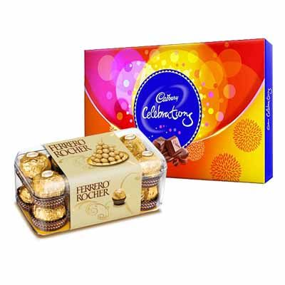 Ferrero Rocher with Cadbury Celebration