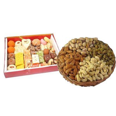 Mixed Dry Fruits & Mixed Sweets