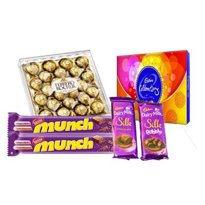 Ferrero Rocher, Cadbury Celebration, Munch & Dairy Milk