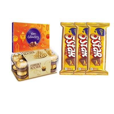 Ferrero Rocher, Cadbury Celebration & 5 Star