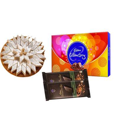 Kaju Katli with Cadbury Celebration & Bournville
